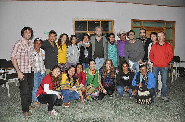 Una imagen de encuentro entre organizaciones donde tomaron parte Berta Cáceres Cáceres y Mónica Alonso por parte de Mundubat.