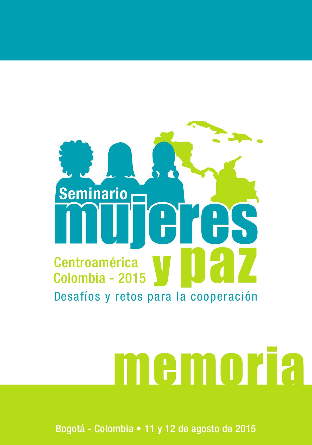 Memorias del Seminario Mujeres y Paz