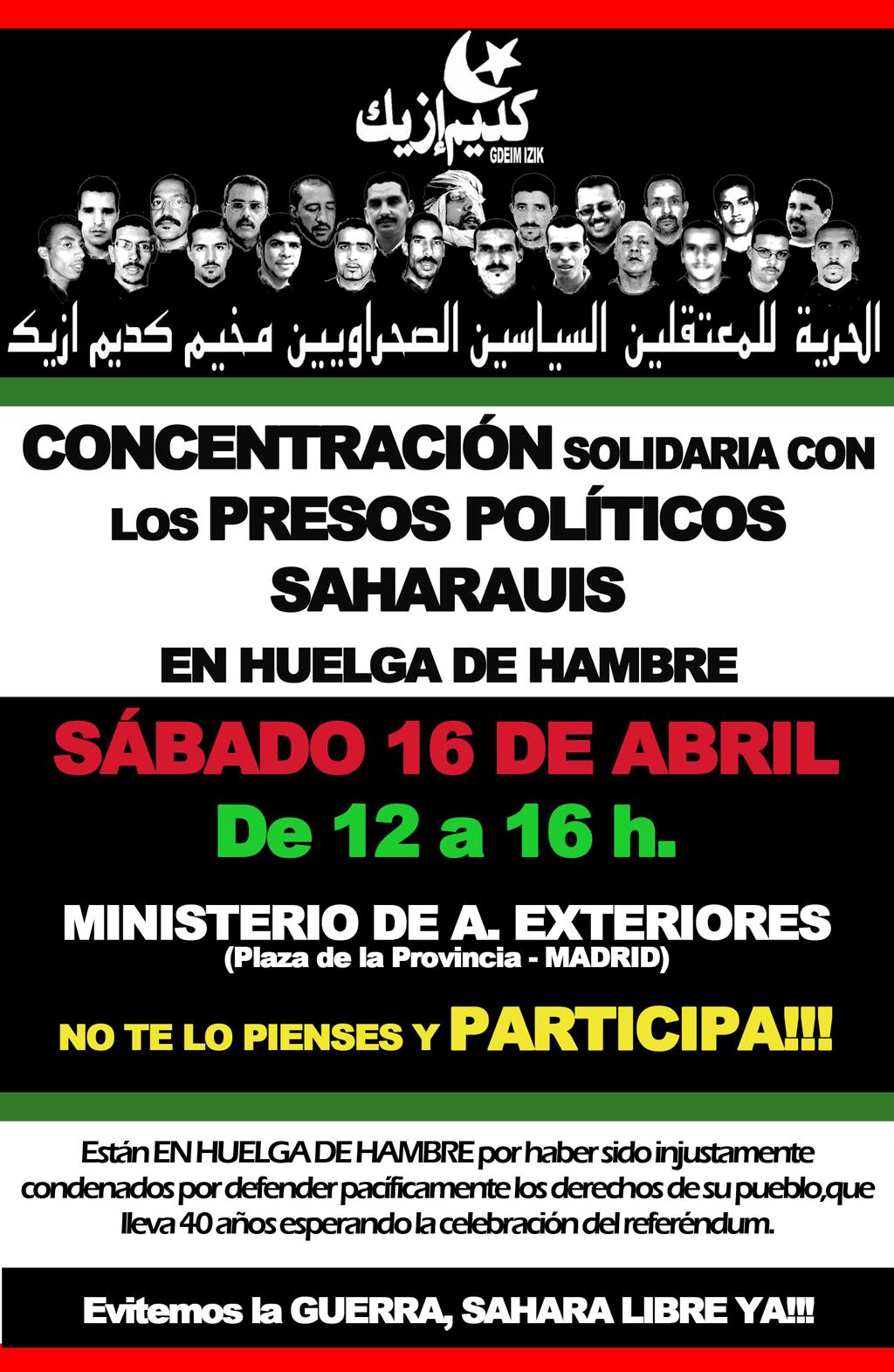 Concentración en Madrid
