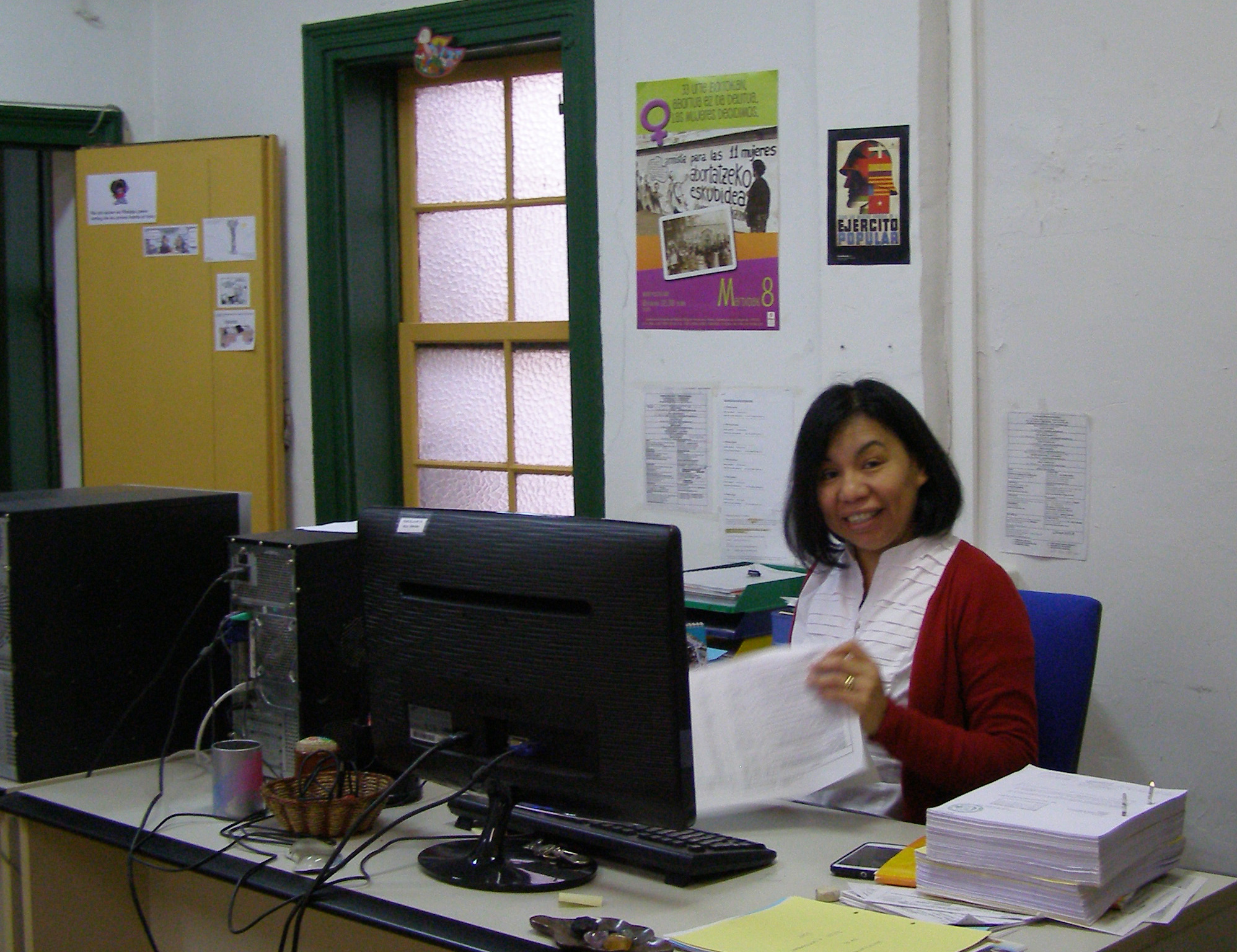 Ana Morales en la sede de Bilbao