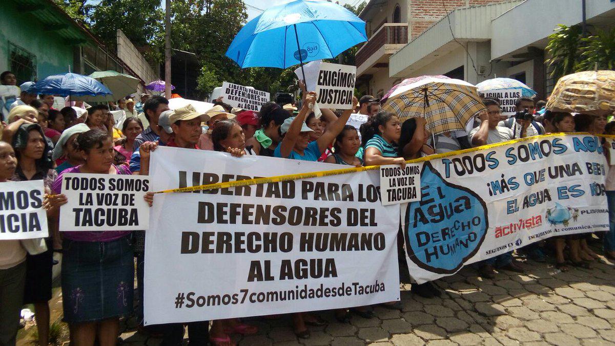 Protesta Tacuba agua