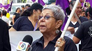 Gladys Lanza en protesta