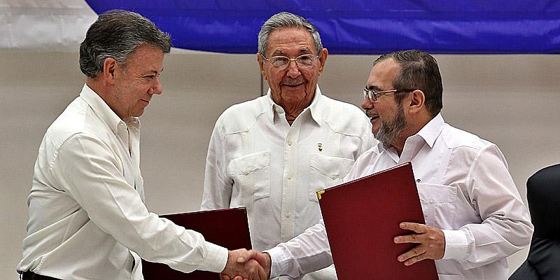 COMIENZA EN LA HABANA LA CEREMONIA DEL ACUERDO PARA CESE DEL FUEGO EN COLOMBIA