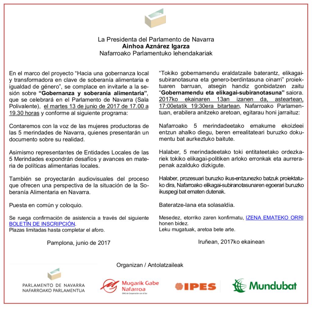 invitacion---Gobernanza y soberanía alimentaria