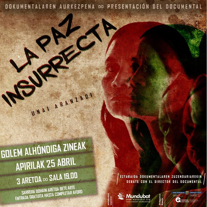 Afiche Bilbao La paz insurrecta