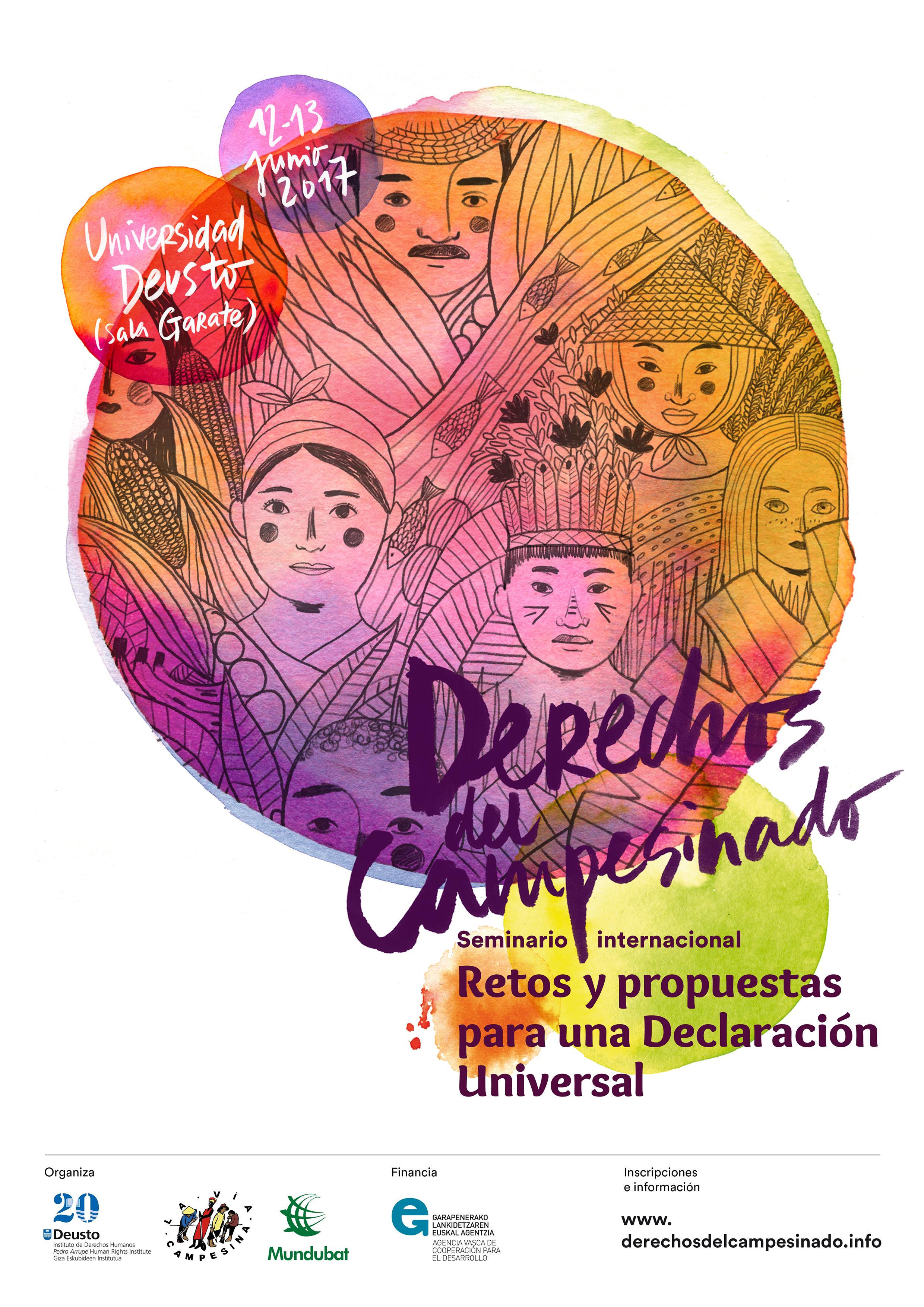 Cartel-seminario Derechos del Campesinado