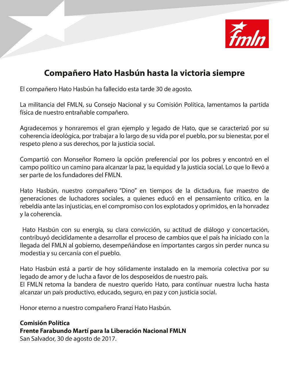 Hato Hasbún FMLN