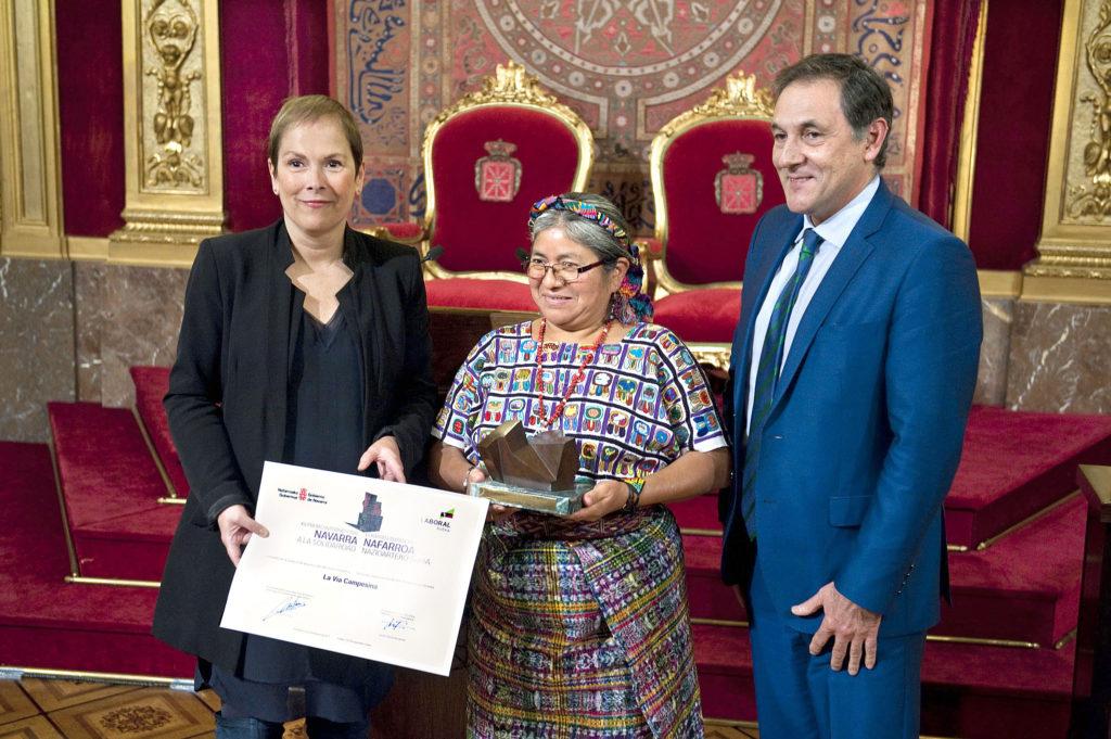 Premio Navarra a la Solidaridad 2017 a La Vía Campesina