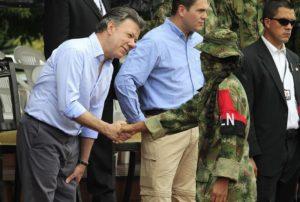 Juan Manuel Santos y ELN