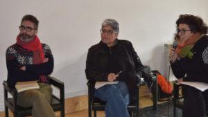 Fernando Altamira, Indyra Mendoza y Udane Hermosilla.
