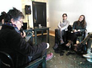 Marcela Sánchez, Arantza Larisgoitia y Sarai Martin.