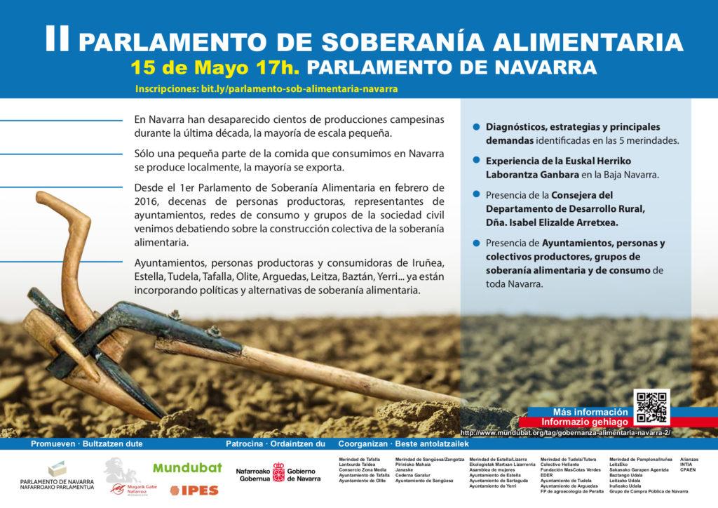 Invitacion CAST II Parlamento Soberanía Alimentaria
