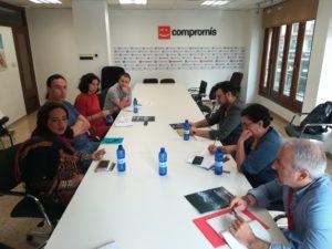 Luz Dary y Federico con los Grupos Municipales Ayto Valencia