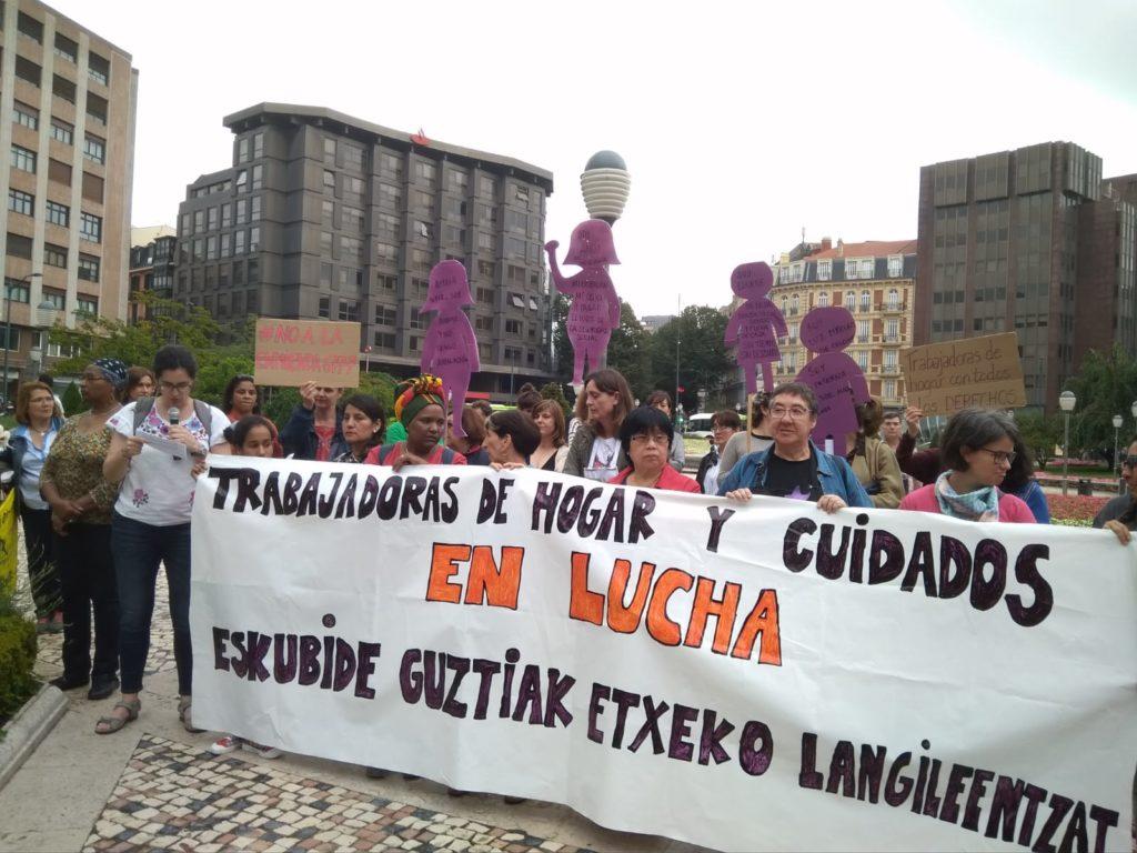 Trabajadoras de hogar y de cuidados Plaza Moyua