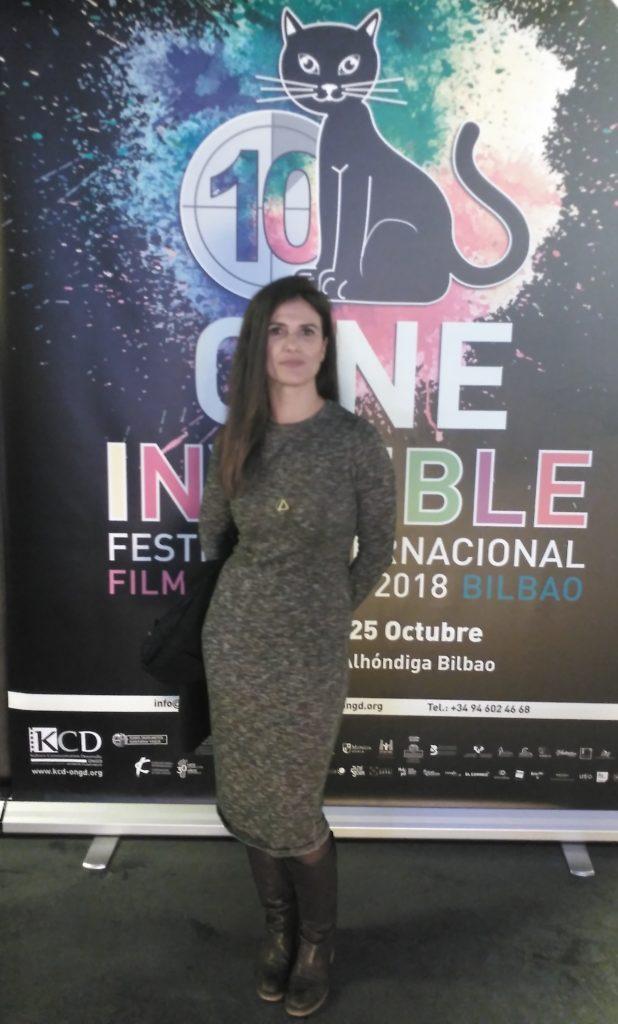 Itxaso Díaz participó en la proyección del documental Las mujeres decididas en los Cines Golem, Bilbao.