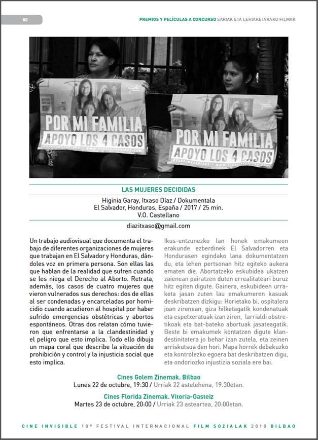 Cine Invisible Las mujeres decididas