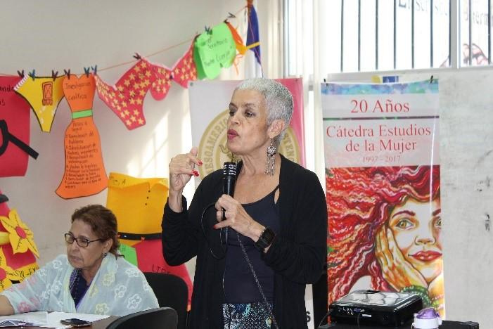 la coordinadora pedagógica Regional de Las Mesoamericanas en Resistencia por una Vida Digna, Ana Felicita Torres